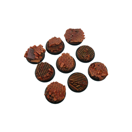 Old Factory Bases, WRound 30mm (5)