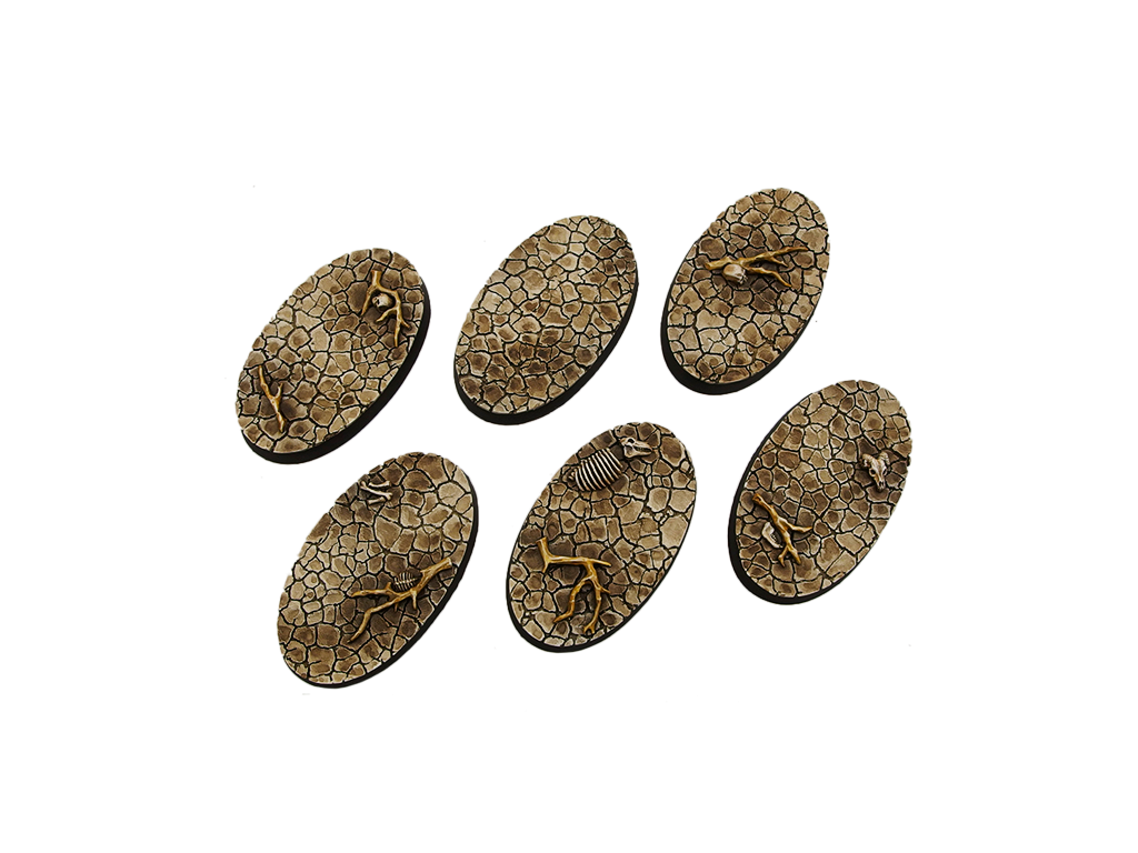 Wasteland Bases, Oval 60mm (4)