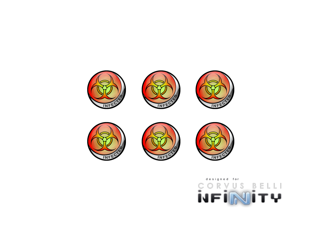 "Infinity Tokens ""Infected"" (6)"