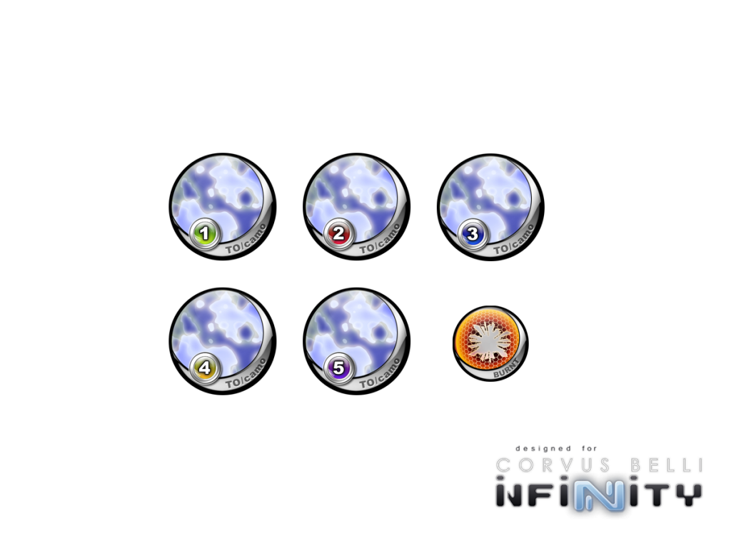 "Infinity Tokens TOCamo ""Blue"" (6)"