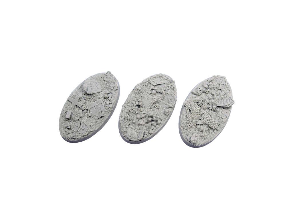Graveyard Bases, Oval 75mm (2)