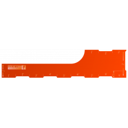 AoS 9 inch Range Ruler - Orange