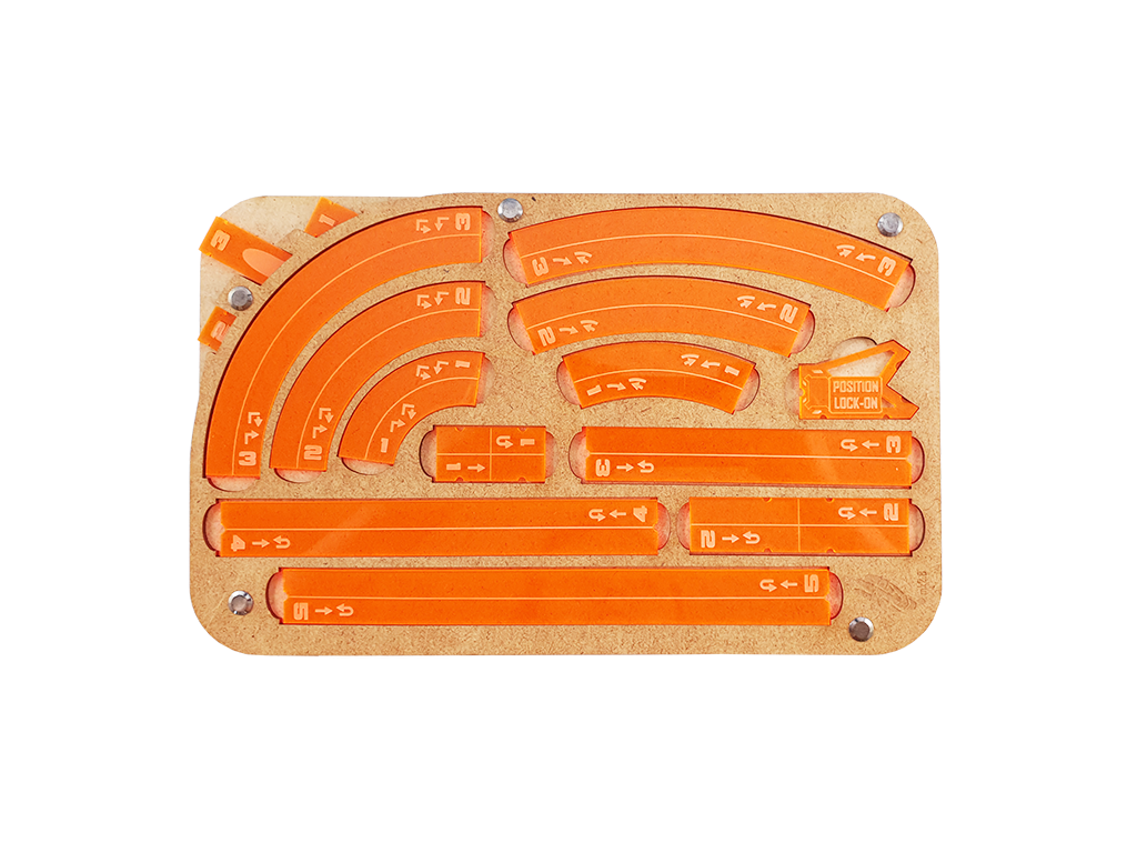 Space Fighter Manouver Tray 2.0 - Orange