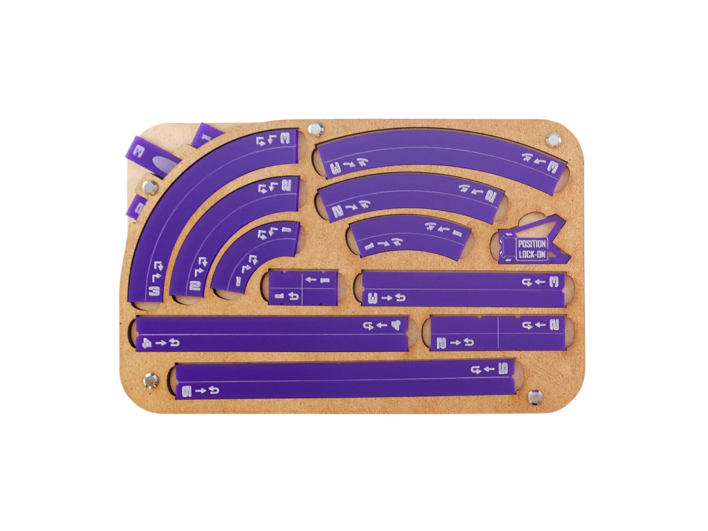 Space Fighter Manouver Tray 2.0 - Purple