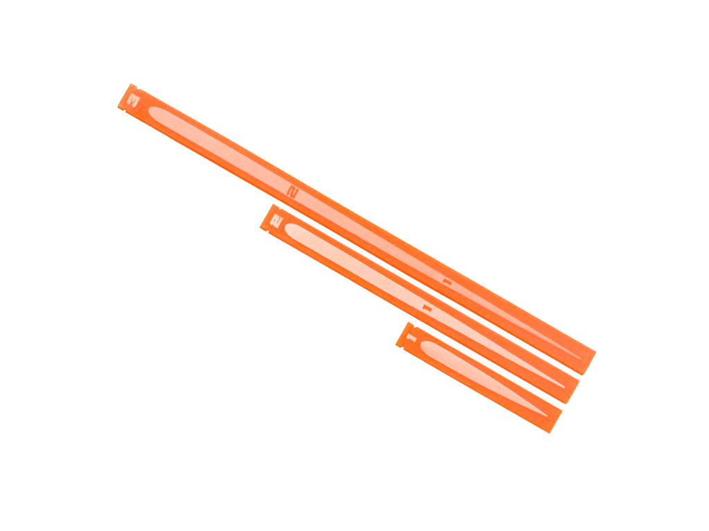 Space Fighter Range Rulers 2.0 - Orange
