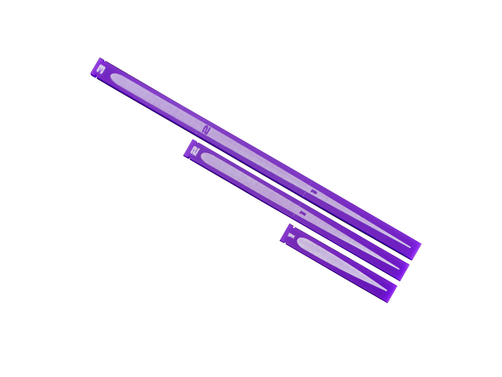 Space Fighter Range Rulers 2.0 - Purple