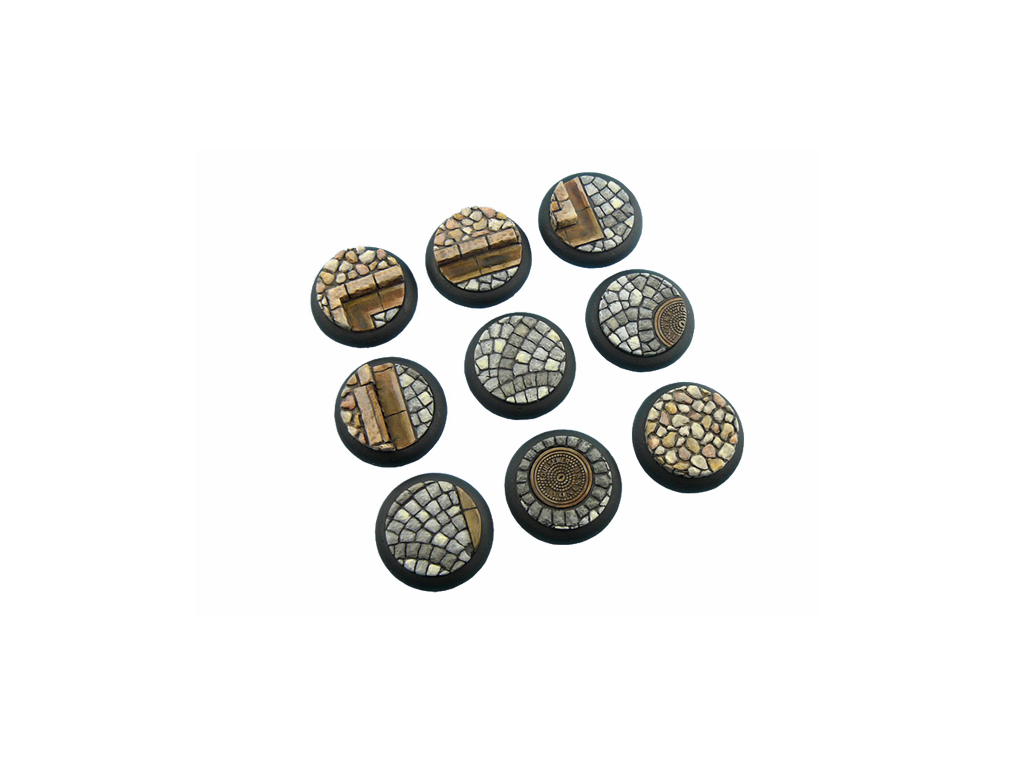 Cobblestone Bases, WRound 30mm (5)