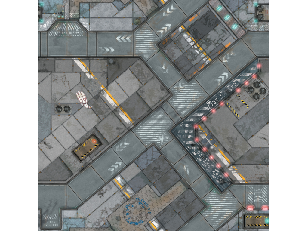 War Game Mat - 48x48inch - District 5 - PREORDER