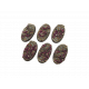 Dark Temple Bases, Oval 60mm (4)