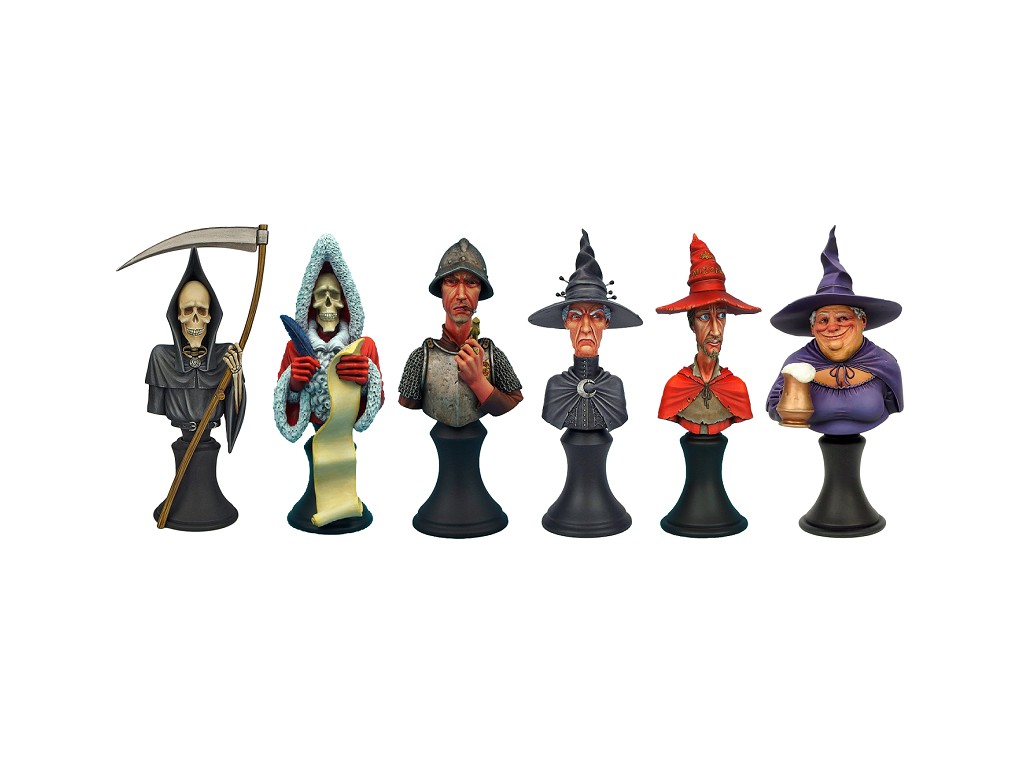 Discworld Busts Set UNPAINTED (6)