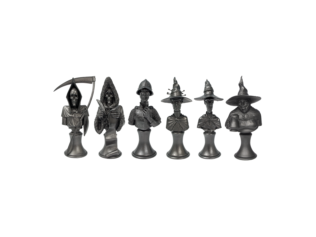 Discworld Busts Set METALLIZED (6)