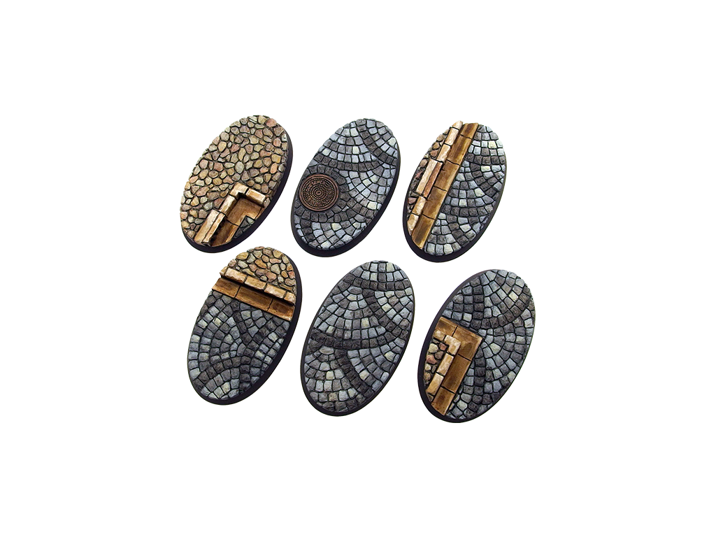 Cobblestone Base, Oval 60mm (4)