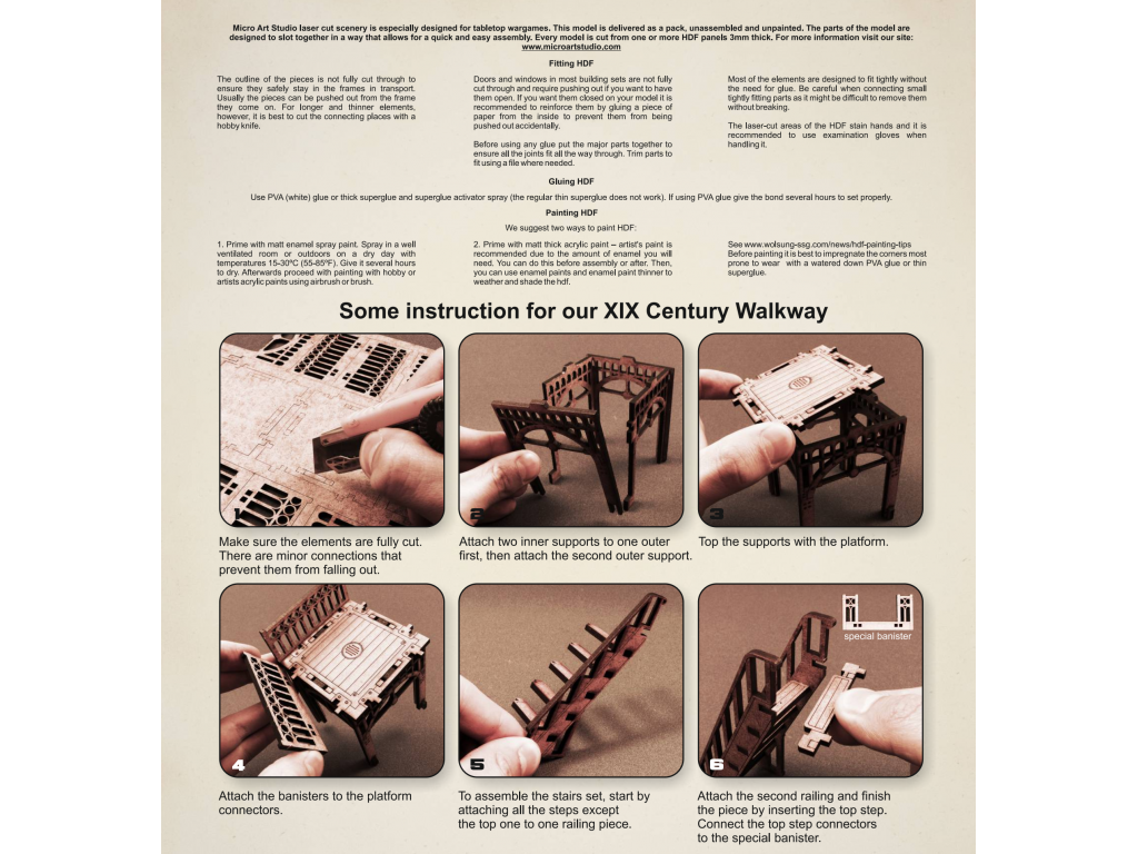 XIX Century Walkway ASSEMBLY INSTRUCTION