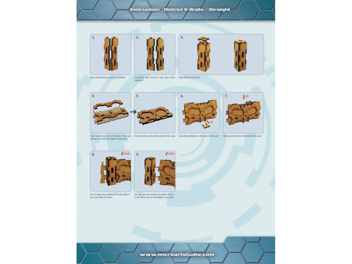 District 5 Walls - Straight ASSEMBLY INSTRUCTION
