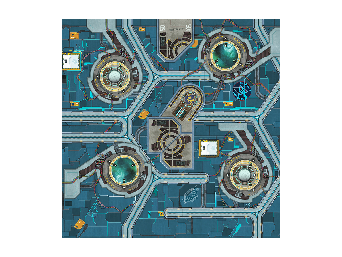War Game Mat - 48x48inch - Daedalus Gate