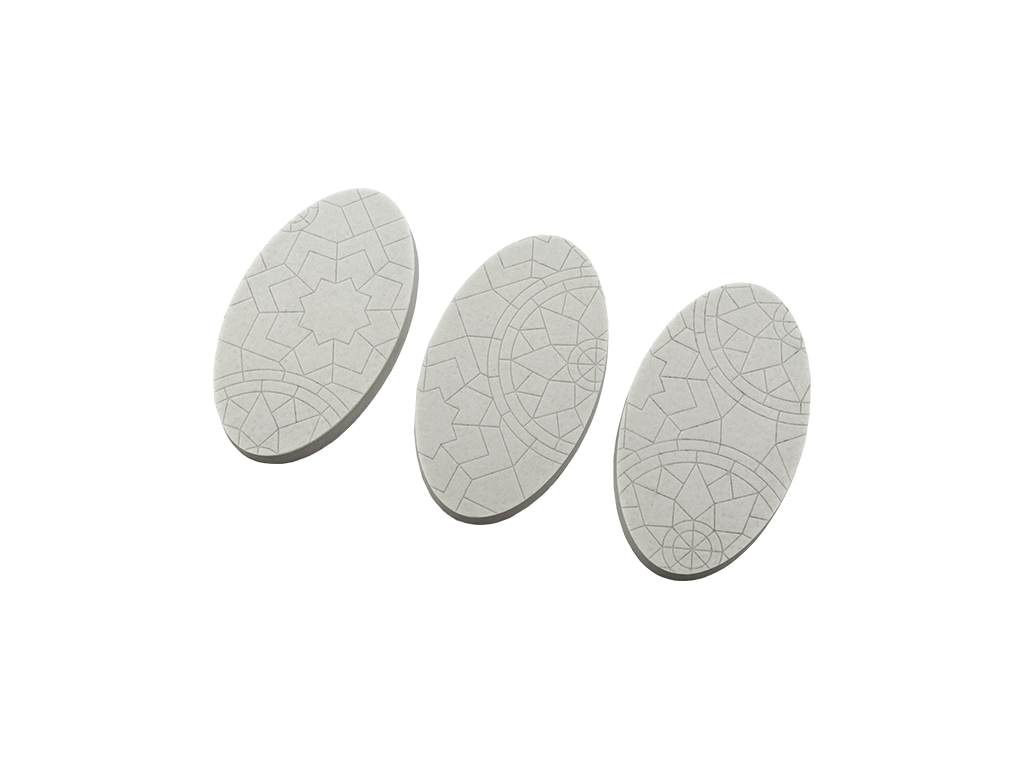 Mosaic Bases, Oval 75mm (2)