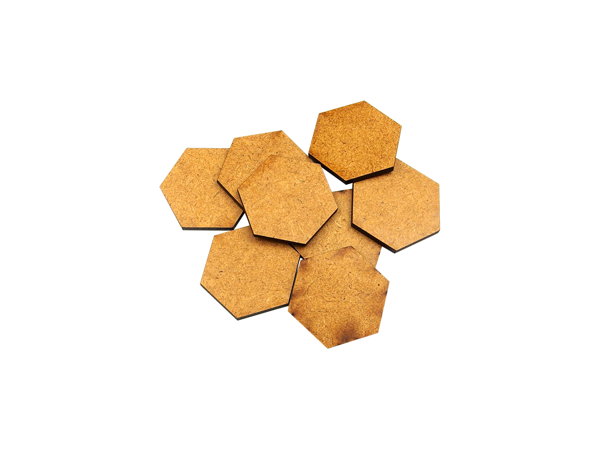 HDF 3mm Bases, Hex 35mm (10)