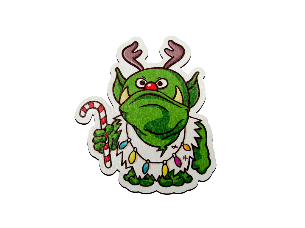 Christmas Bauble - Ork Deer - Fridge Magnet