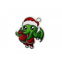 Christmas Bauble - Santa Cthulhu - Fridge Magnet