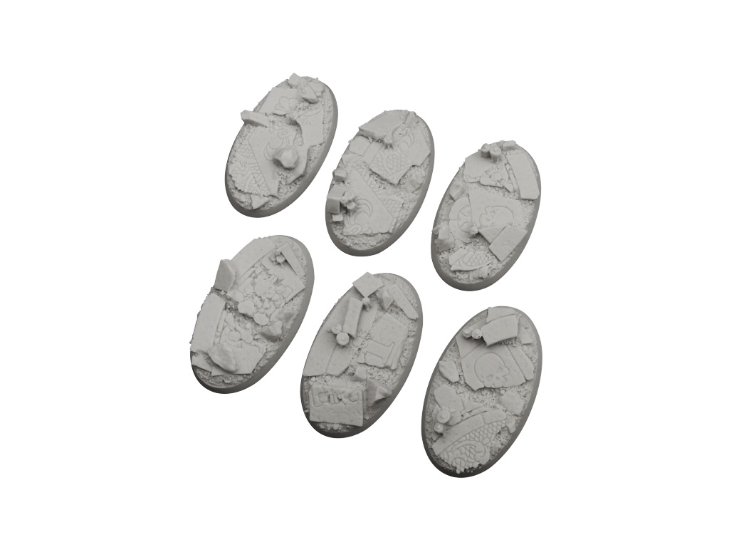 Ruined Chapel Bases, Oval 60mm (4)