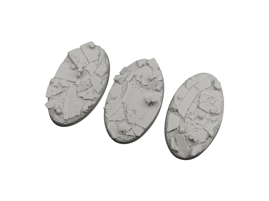 Ruined Chapel Bases, Oval 75mm (2)