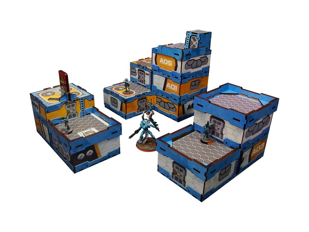 District 5 PREPAINTED (blue) Sample bundle