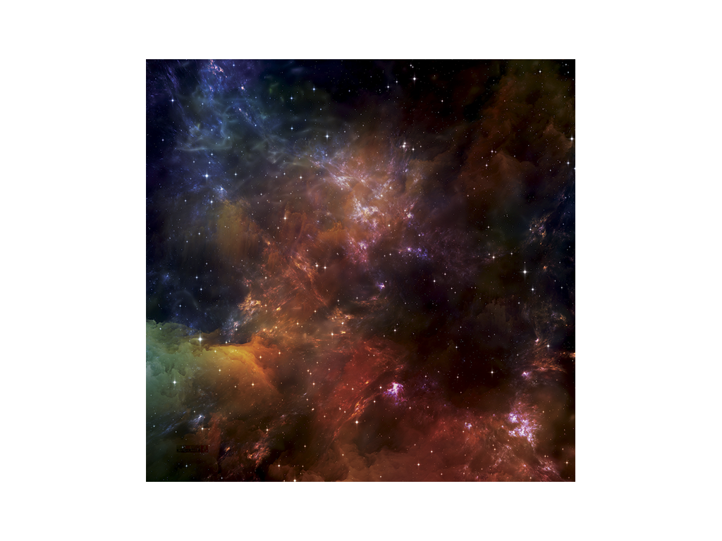 War Game Mat - 36x36inch - Space Nebula