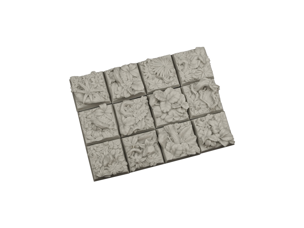 Jungle Bases 20x20mm (10)