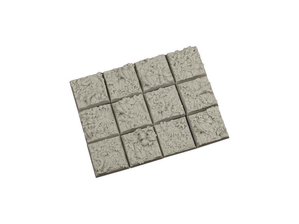 Jungle Bases 25x25mm (10)