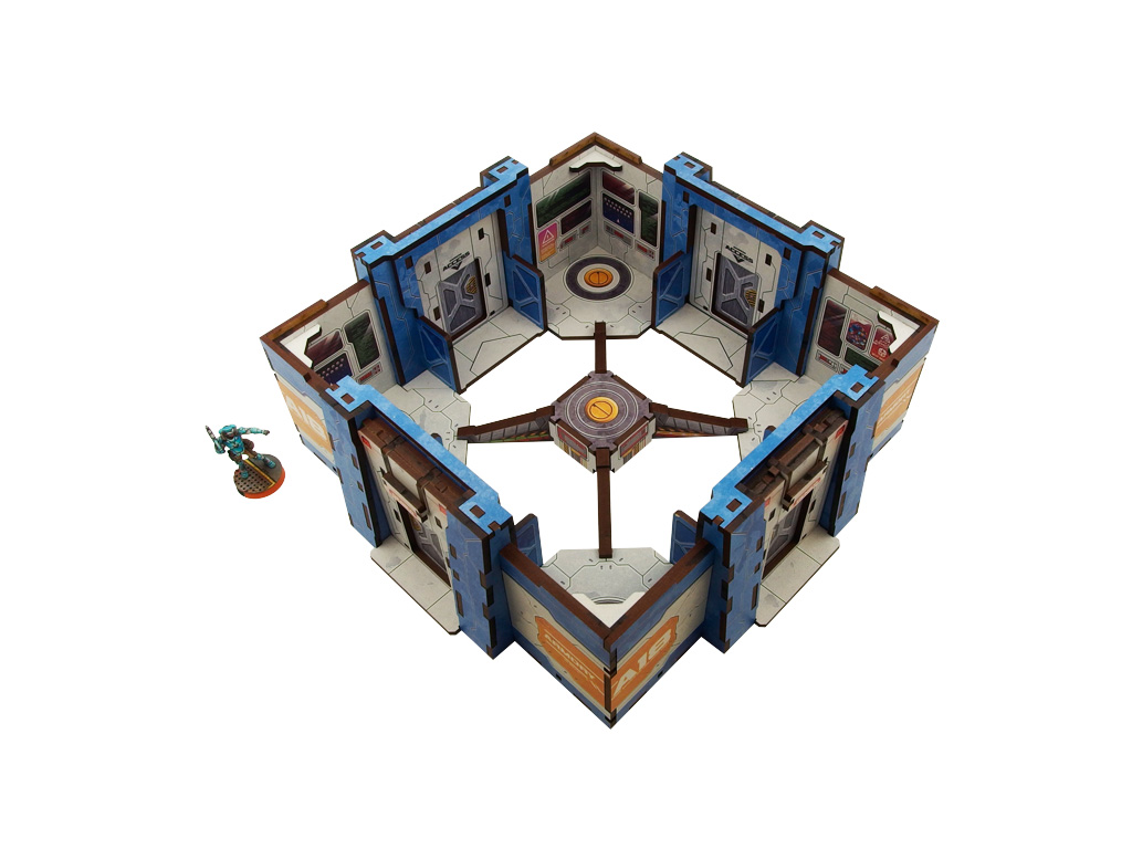 District 5 Objective Room Mark 3 PREPAINTED (blue)