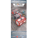 Precinct Sigma Containers (3) PREPAINTED (grey/red)