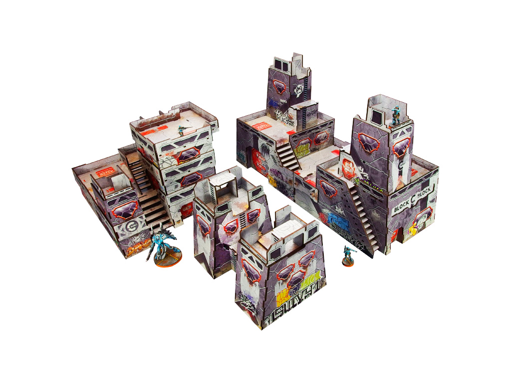 Precinct Sigma PREPAINTED (grey) Fort Kickass bundle