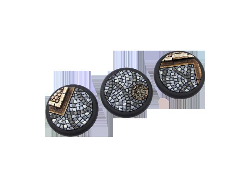 5 Cobblestone Bases - *MicroArtStudio* WRound 30mm