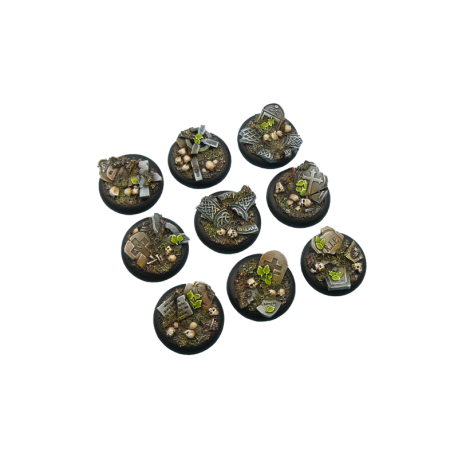 Graveyard Bases, Wround 30mm (5)