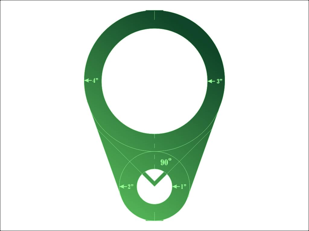 Circular Ruler Green